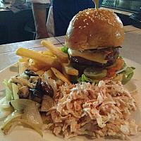 250g Loaded American Burger inc choice of sides