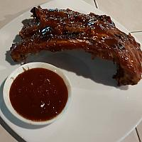 Half rack of BBQ ribs