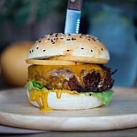 Vegetarian Sweet Potato Burger