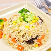 fried rice egg with vegetable