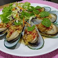 nz mussel with lime