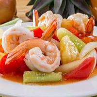 sweet and sour sauce fried with shrimp
