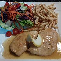 secondo chicken or pork white wine