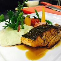 Atlantic salmon teriyaki