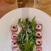 octopus tuna carpaccio