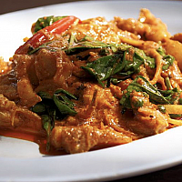 Curried Asian Sea Bass (pad pet pla)