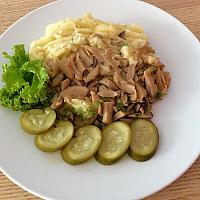 Mashed potato with mushroom