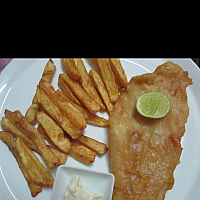 British style Fish 'n' Chips.
