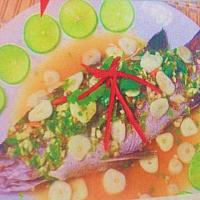 Steamed White Snapper with Lemon Sauce