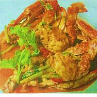 Fried Crab with Curry Power