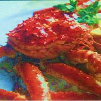 Fried king Crab with Garlic Butter