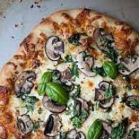 12. Mushrooms pizza