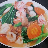fried nood seafood
