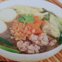 jelly noodle soup pork/chicken