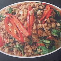 Fried basil pork/chicken