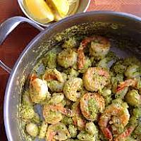 Gnocchi Pesto e Gamberi