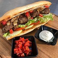 beef kebab baguette