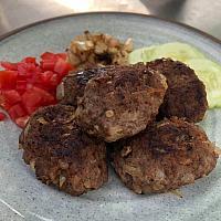plate beef kebab