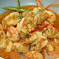 fried panang curry sea food