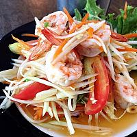 Papaya Salad with Prawns