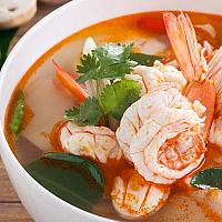 Tom Yam Soup With Prawns