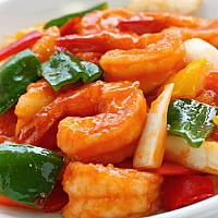 Sweet and Sour with Prawns