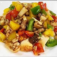 Stir fried Garlic and Peppers with chicken