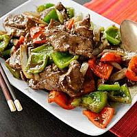 Stir Fried garlic and pepper with Beef
