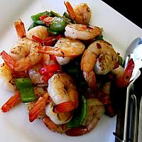 Stir Fried garlic and Pepper with Prawns
