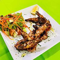 King prawns grill