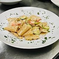 Gamberi zucchini pasta