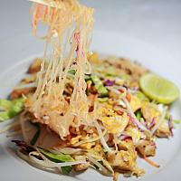 PAD THAI KAI or MOO (chicken or pork )