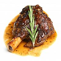 Slow Cooked Lamb Shank with Honey-Thyme Sauce