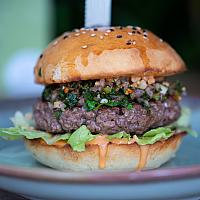 Thai larb beef burger