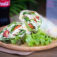 Chicken & goat cheese wrap