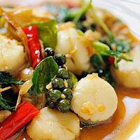 Scallop Phad Cha   гребешки с перцем чили   香辣炸扇贝