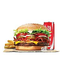 DOUBLE WHOPPER BACON CHEESE VALUE MEAL (BEEF)