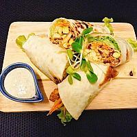 Vegan spicy wrap