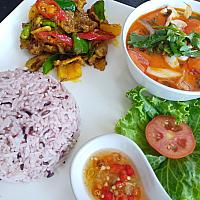 Stir Fried Pork / Chicken with Curry Paste + Tom Yum Kung
