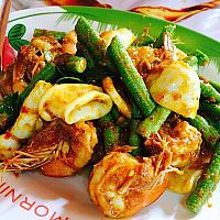 Stir fried chilli paste with seafood