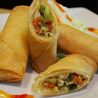 Chicken Spring Rolls 4 pcs (Cantonese style) #0003