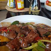 Stir Fried Beef with Black Bean Sauce #0033