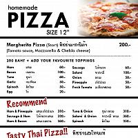Homemade Pizza -thai taste pizza