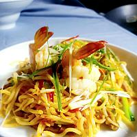 21 Chop Suey With Shrimp (Small Prawns)   (ผัดเส้นเหลืองกุ้งเล็ก)