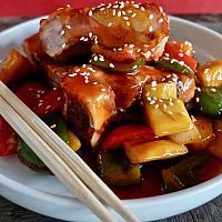 33 Sweet & Sour Hong Kong Style with Crispy Pork Rib .