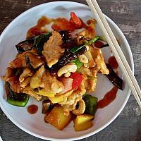 77 Chicken with Kung Pao Sauce  (ไก่ผัดเม็ดมะม่วงหิมพานต์)