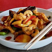 79 Pork with Kung Pao Sauce   (หมูผัดเม็ดมะม่วงหิมพานต์)