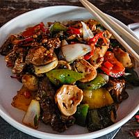 41 Lamb with Mixed Peppers & Black Bean Sauce