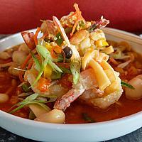 61 Szechuan Peppercorn & Chili with King Prawns  (กุ้งผัดซอสเสฉวน)