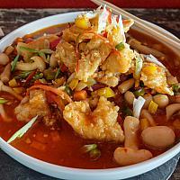 62 Szechuan Peppercorn & Chili with Crispy Chicken  (ไก่กรอบผัดซอสเสฉวน)